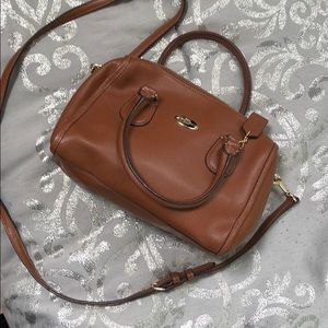 Camel coach mini purse